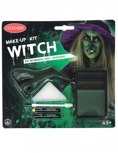 Kit maquilhagem bruxa adulto Halloween