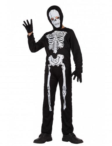 Disfarce esqueleto menino Halloween