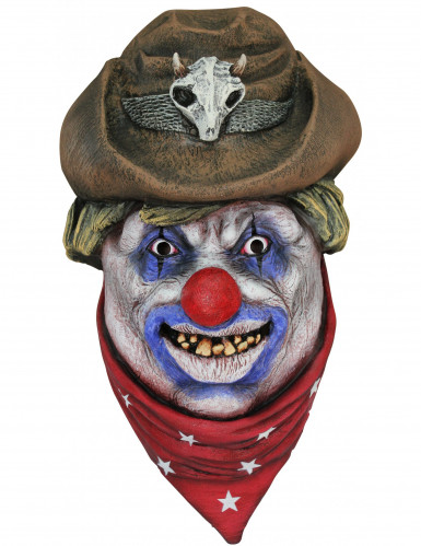 Máscara integral palhaço cowboy adulto Halloween