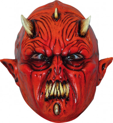 Máscara integral diabo monstruoso adulto Halloween