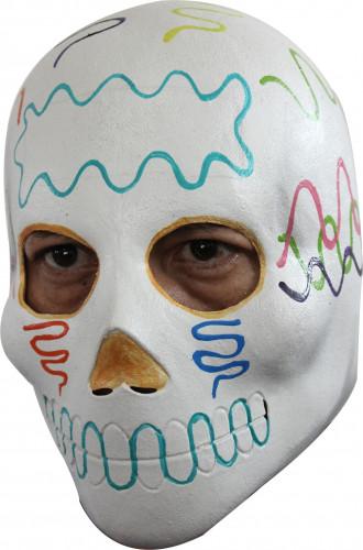 Máscara caveira adulto Dia dos Mortos