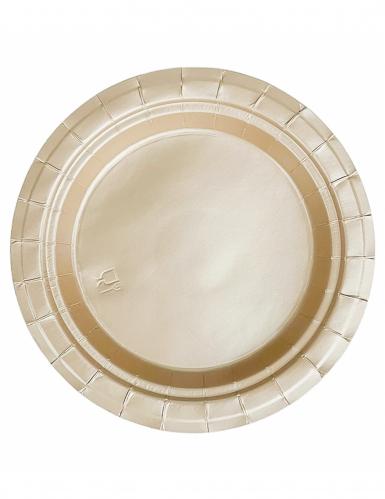 20 Pratos dourados
