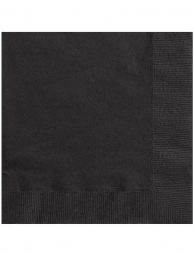 50 Guardanapos de cor preta