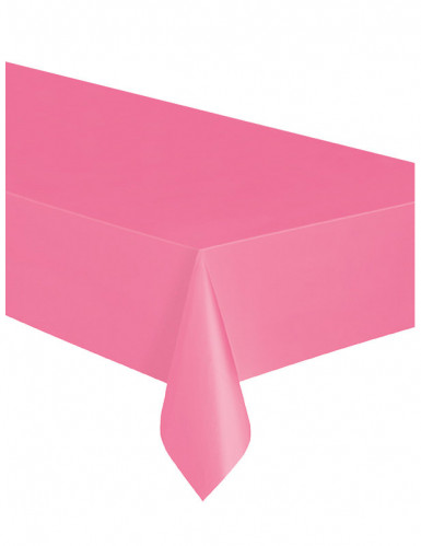 Toalha de plástico cor-de-rosa-1