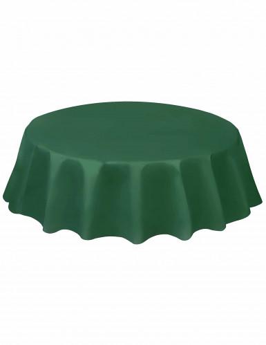Toalha redonda de plástico verde