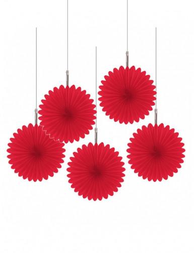 Decorações para pendurar rosetas vermelhas