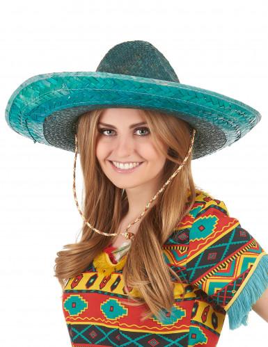 Sombrero mexicano verde adulto-2