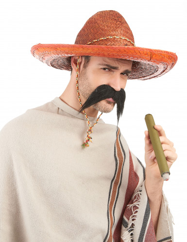 Sombrero mexicano cor de laranja adulto-1
