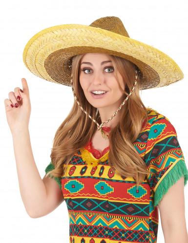Sombrero mexicano amarelo adulto-2