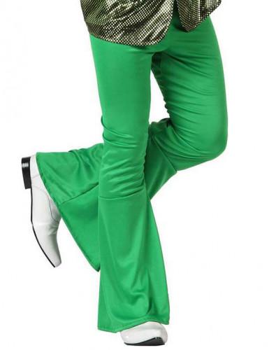 Calças disco verde homem