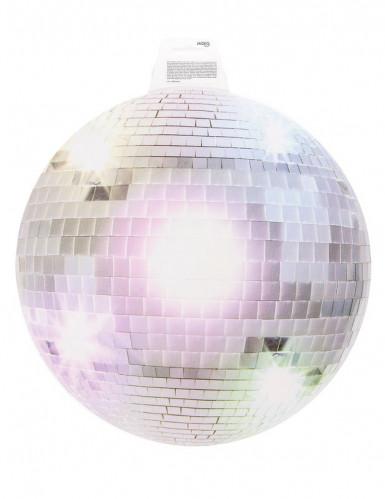 Decoração mural bola de discoteca prateada 34 cm-1