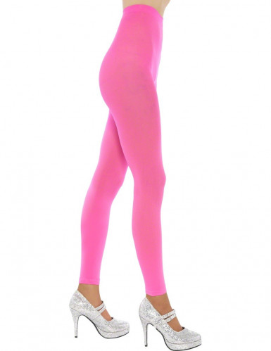 Collants cor de rosa fluorescente adulto