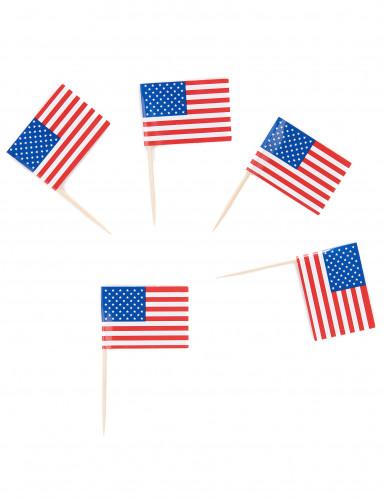 30 Palitos Bandeira USA