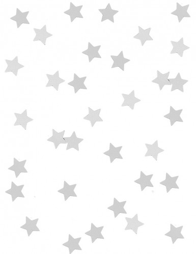 Confetes estralas prateadas