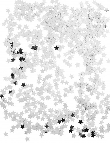 Confetes estralas prateadas-1