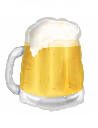 Balão de alumínio caneca de cerveja amarela São Patrício