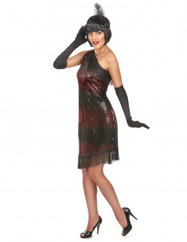 Disfarce charleston mulher preto e vermelho-1