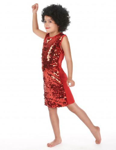 Disfarce disco menina vermelho com purpurinas-1