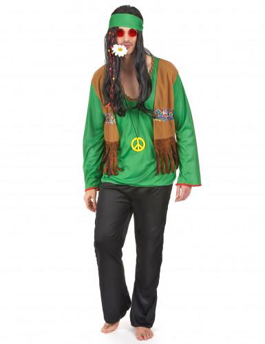 Disfarce de hippie homem verde