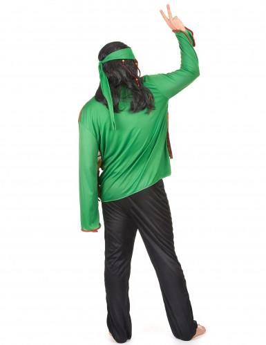 Disfarce de hippie homem verde-2