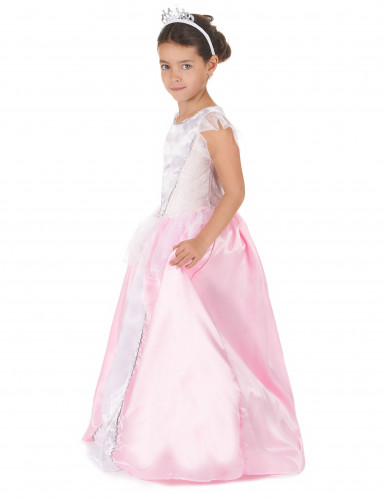 Disfarce princesa menina rosa e branco-1