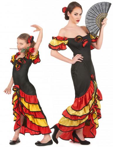 Disfarce casal dançarina flamenco para mãe e filha