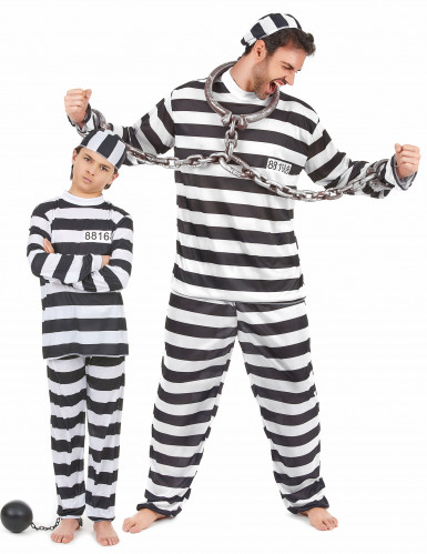 Disfarce casal prisioneiro pai e filho