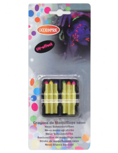 6 Lápis de maquilhagem fluo UV