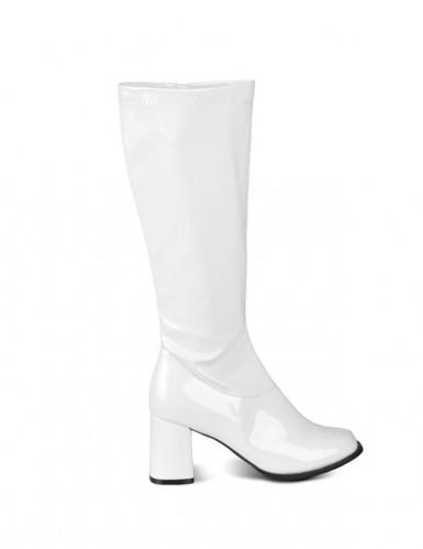 Botas brancas vernizadas mulher