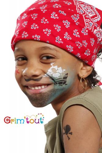 maquiagem reutilizável estêncil cavaleiro e pirata Grim.-1