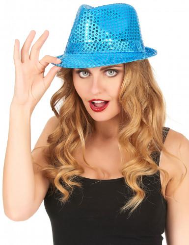 Chapéu com lantejoulas azuis adulto-1