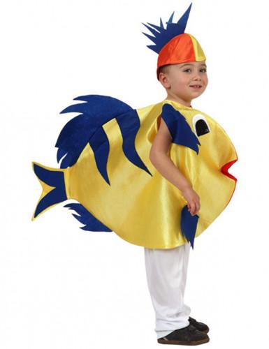 Disfarce peixe tropical criança