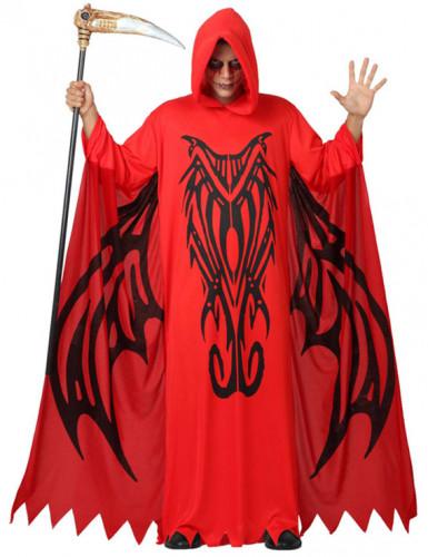 Disfarce demónio vermelho homem Halloween