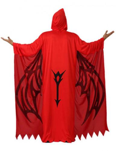 Disfarce demónio vermelho homem Halloween-1