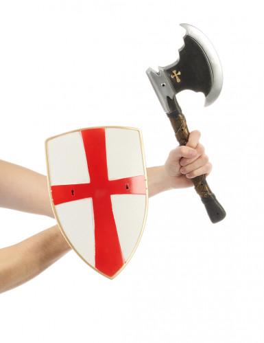 Kit cavaleiro escudo e machado-1