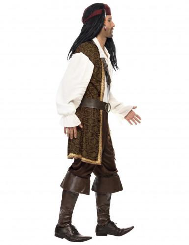Disfarce pirata castanho homem-1