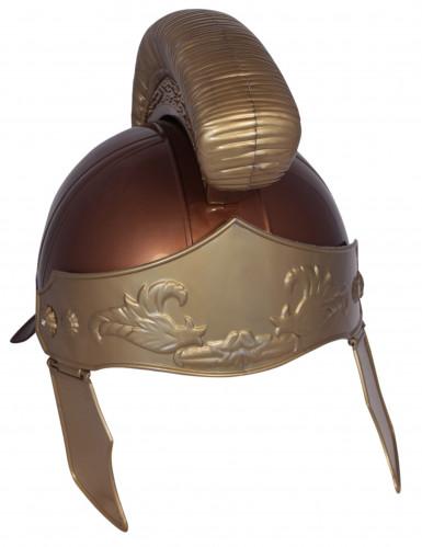 Capacete romano castanho adulto-1