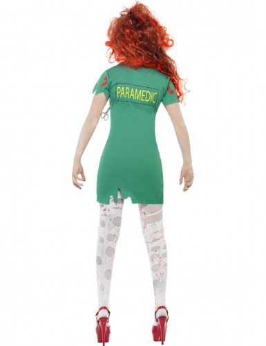 Disfarce zombie paramédica mulher Halloween-2