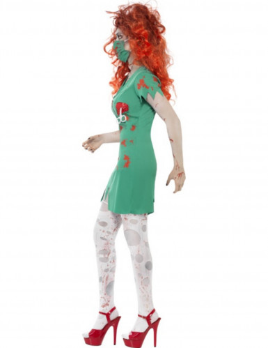Disfarce zombie paramédica mulher Halloween-1