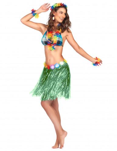 Saia havaiana curta verde adulto