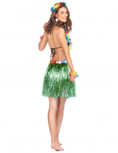 Saia havaiana curta verde adulto-1