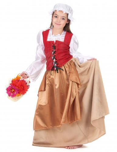 Disfarce aldeã Idade Média rapariga-1