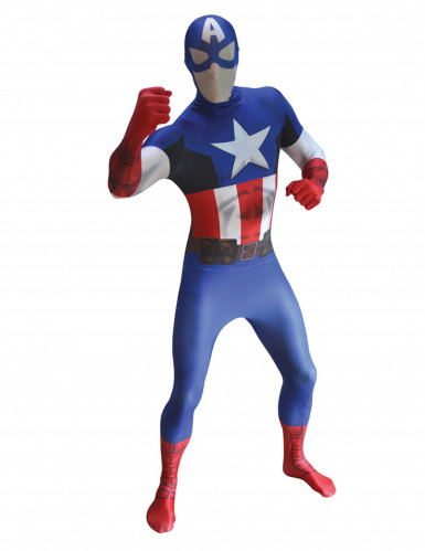 Disfarce Captain America™ Morphsuits™ para adulto