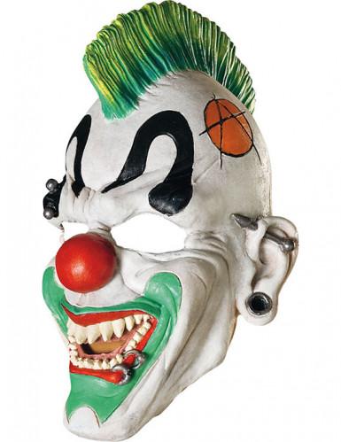 Máscara palhaço punk adulto