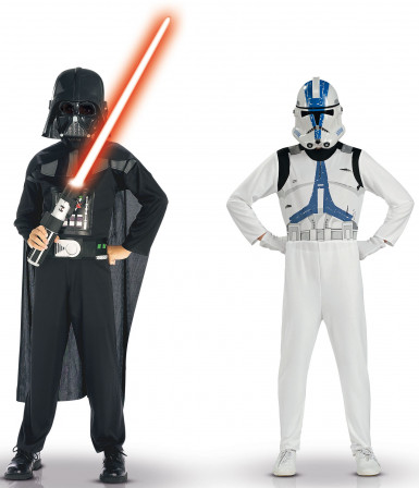 Disfarce Dark Vador e Clone Trooper Star Wars™ criança