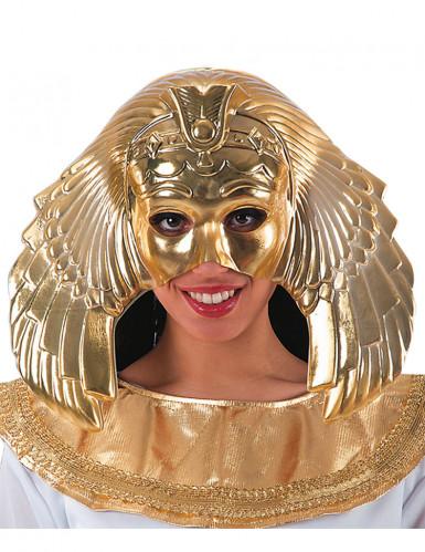 Meia máscara dourada rainha egícpia mulher