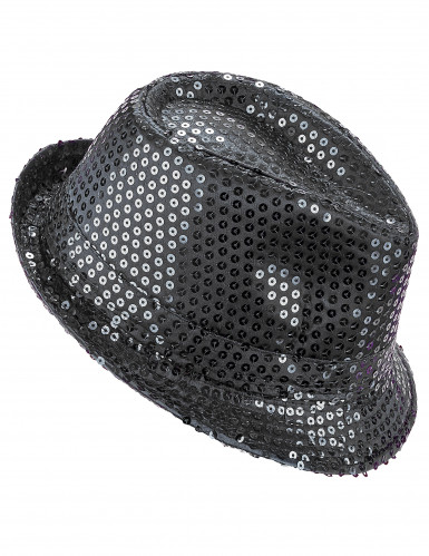 Chapéu preto com lantejoulas