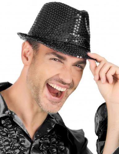 Chapéu preto com lantejoulas-1