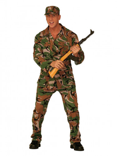 Disfarce militar camuflagem homem