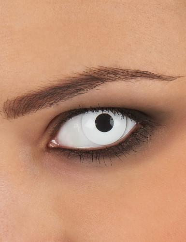 Lentes de contacto olho branco